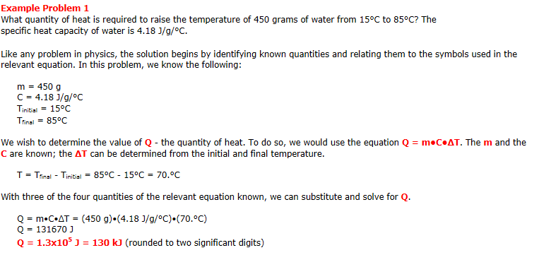 specific heat practice problems worksheet Termolak – Specific Heat Problems Worksheet